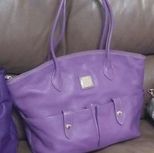 Dooney and Bourke snap pocket Tote. Purple